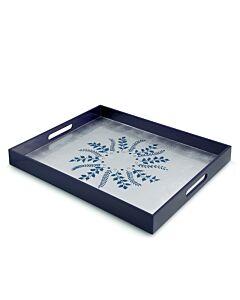 Blue/Silver Fern Rectangular Tray