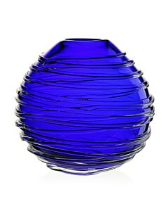 "Miranda Globe Vase 9"" Ocean Blue"