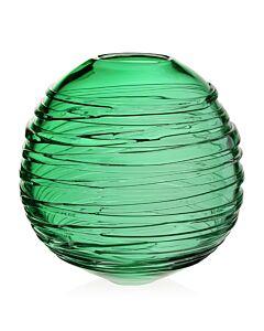 "Miranda Globe Vase 11"" Seaglass Green"